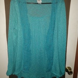 Self Esteem L Turquoise Cardigan